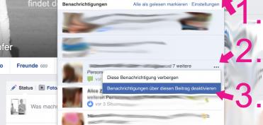 2 Facebook Beanchrichtigungen abstellen