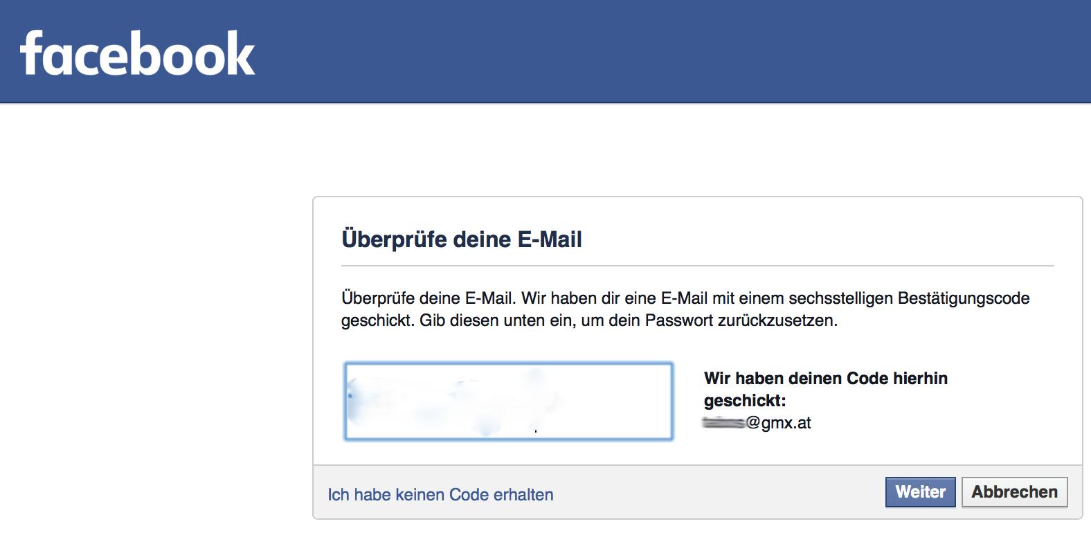 Facebook PaГџwort VergeГџen Keine E Mail