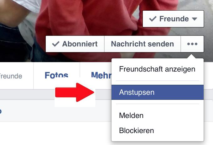 Facebook Anstupser Finden