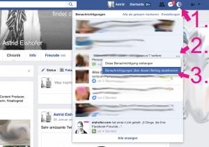 Facebook Benachrichtigungen bei Kommentaren 2