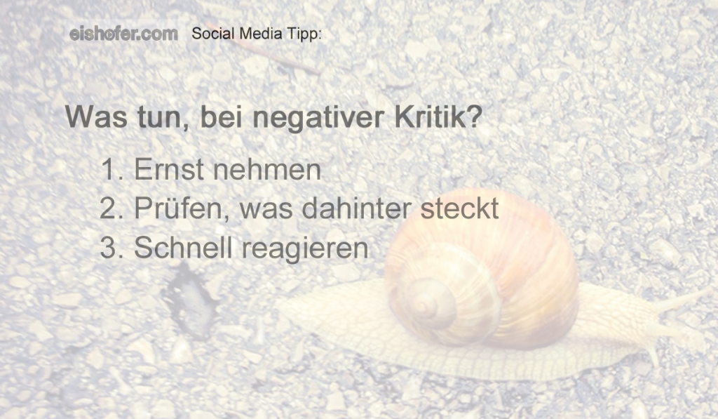 Social Media Was tun bei negativer Kritik – Teil 1