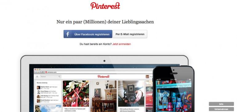Pinterest Schritt 1: Rufen Sie die Seite pinterest.com auf