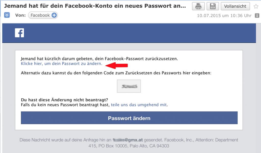 3 Facebook Passwort vergessen