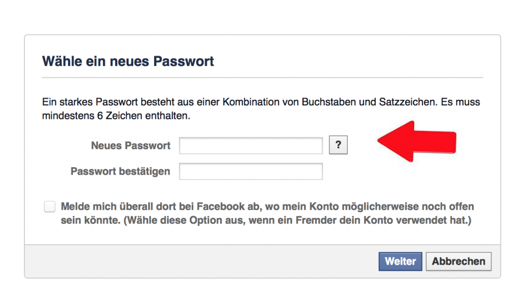 4 Facebook Passwort vergessen