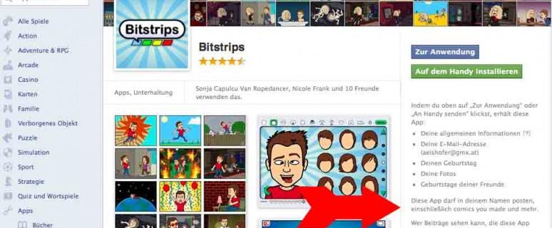 Facebook App: Bitstrips