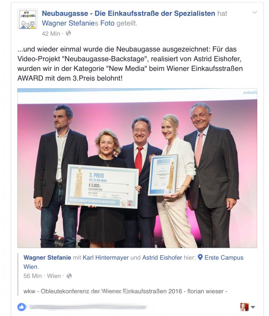 Einkaufsstraßen Award 2 Bühne