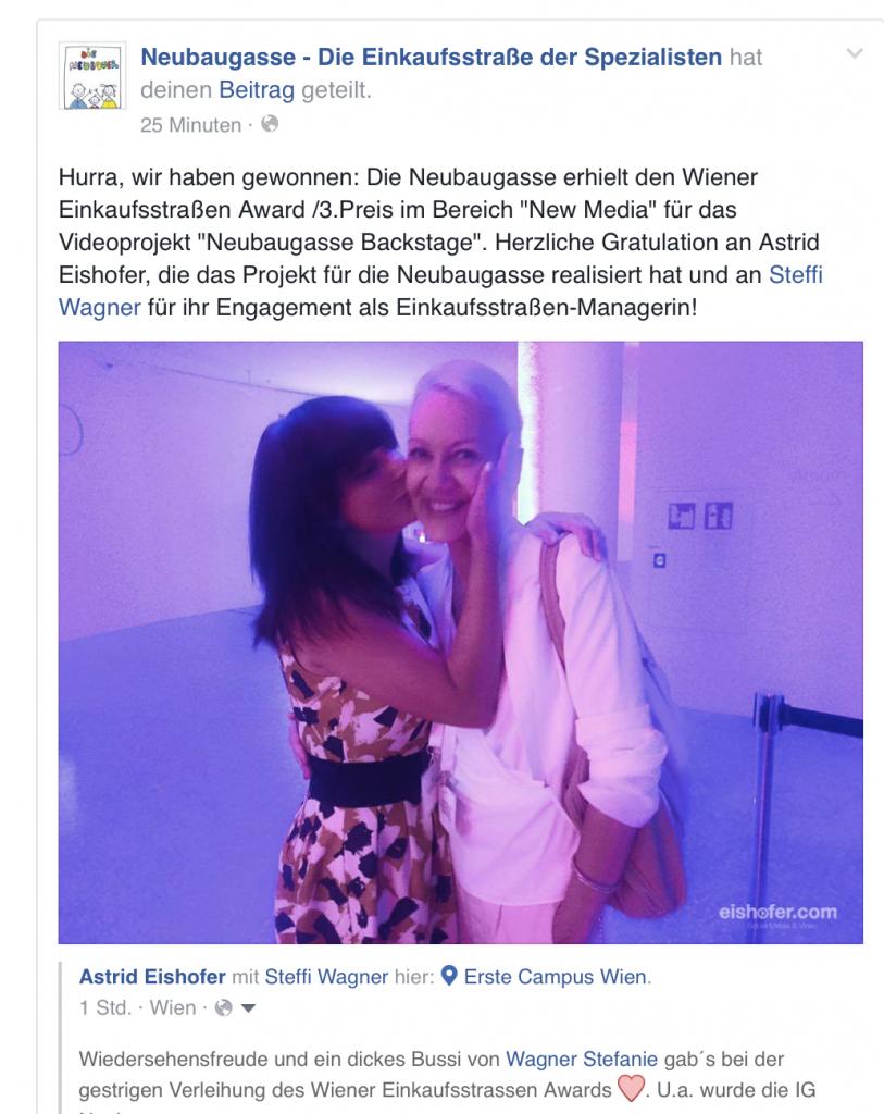 Einkaufsstraßen Award mit Steffi