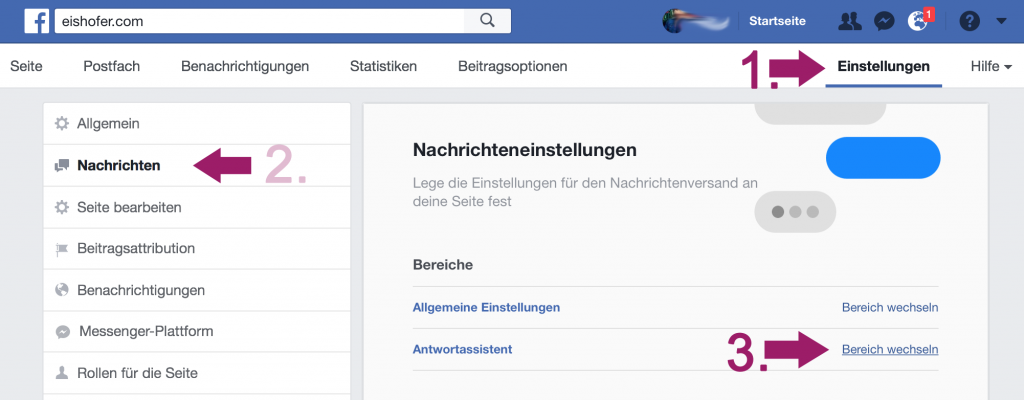 Facebook Antwortassistent