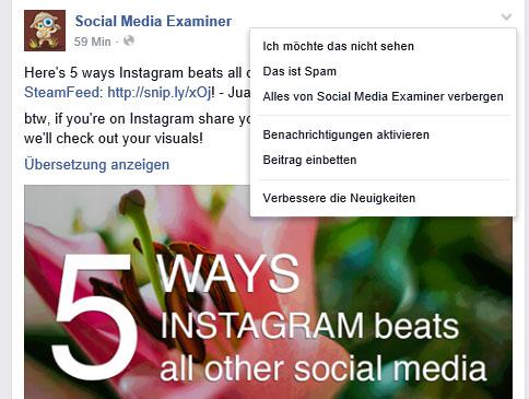 Facebook Training: So bewerten Sie die Newsfeed Posts