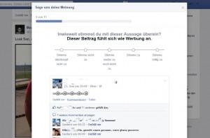 Facebook-Training Newsfeed Posts bewerten