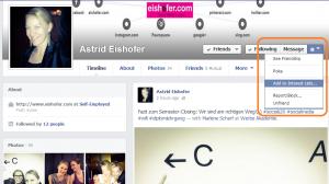 Schritt 1: Facebook Interessen-Liste hinzufügen