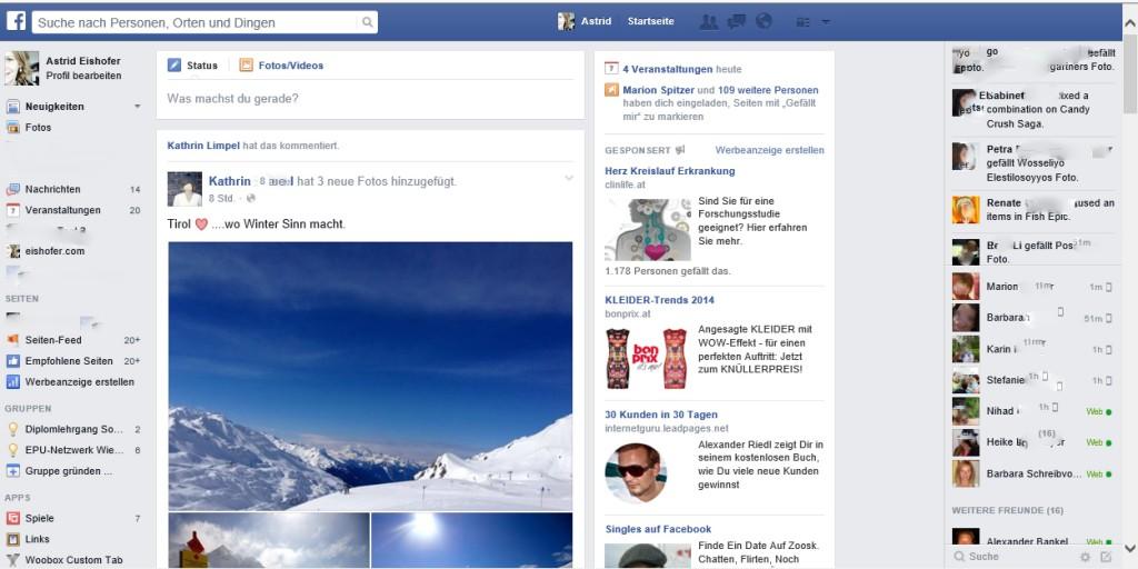 Neues Facebook Design