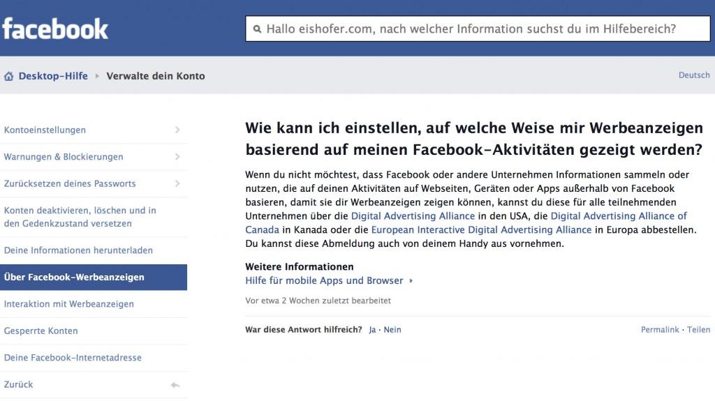 Facebook 2 Datenrichtlinien