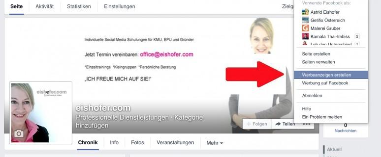 Facebook: Werbeanzeige erstellen