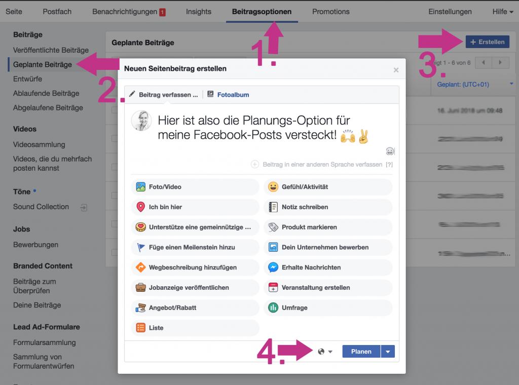 Facebook Beitrag Planen Verschwunden