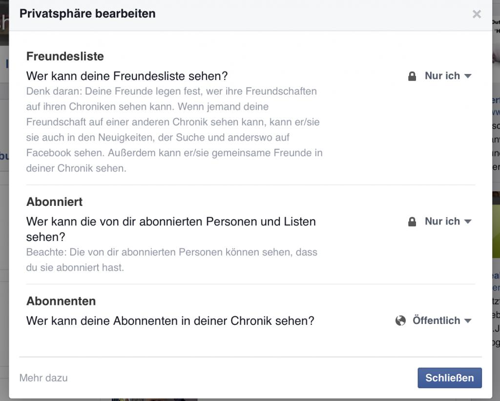 Facebook Freunde verbergen 3