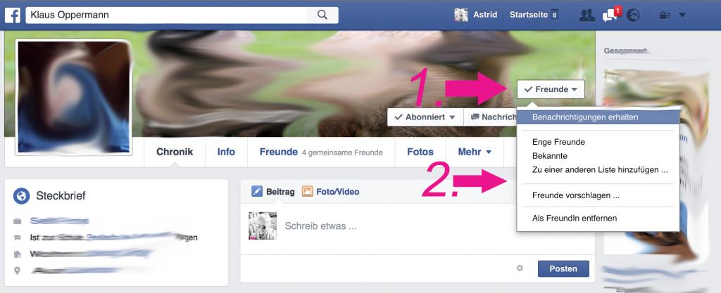 Facebook Freundesliste