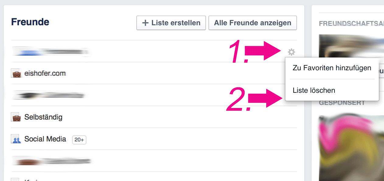 Facebook Freundesliste Löschen