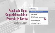Facebook Freundeslisten anlegen