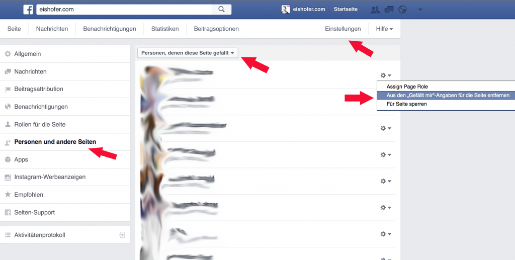 Facebook Gefällt mir Angaben 1