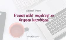 Facebook Tipp - Gruppen