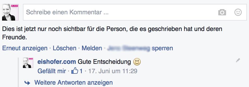 Facebook Kommentar loeschen 2