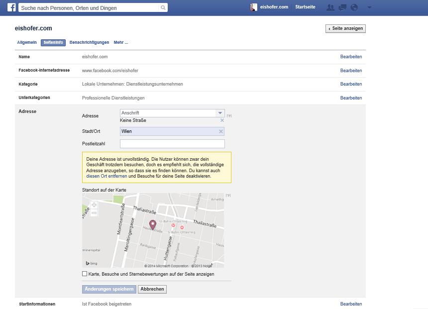 Facebook Rezensionen hinzufügen