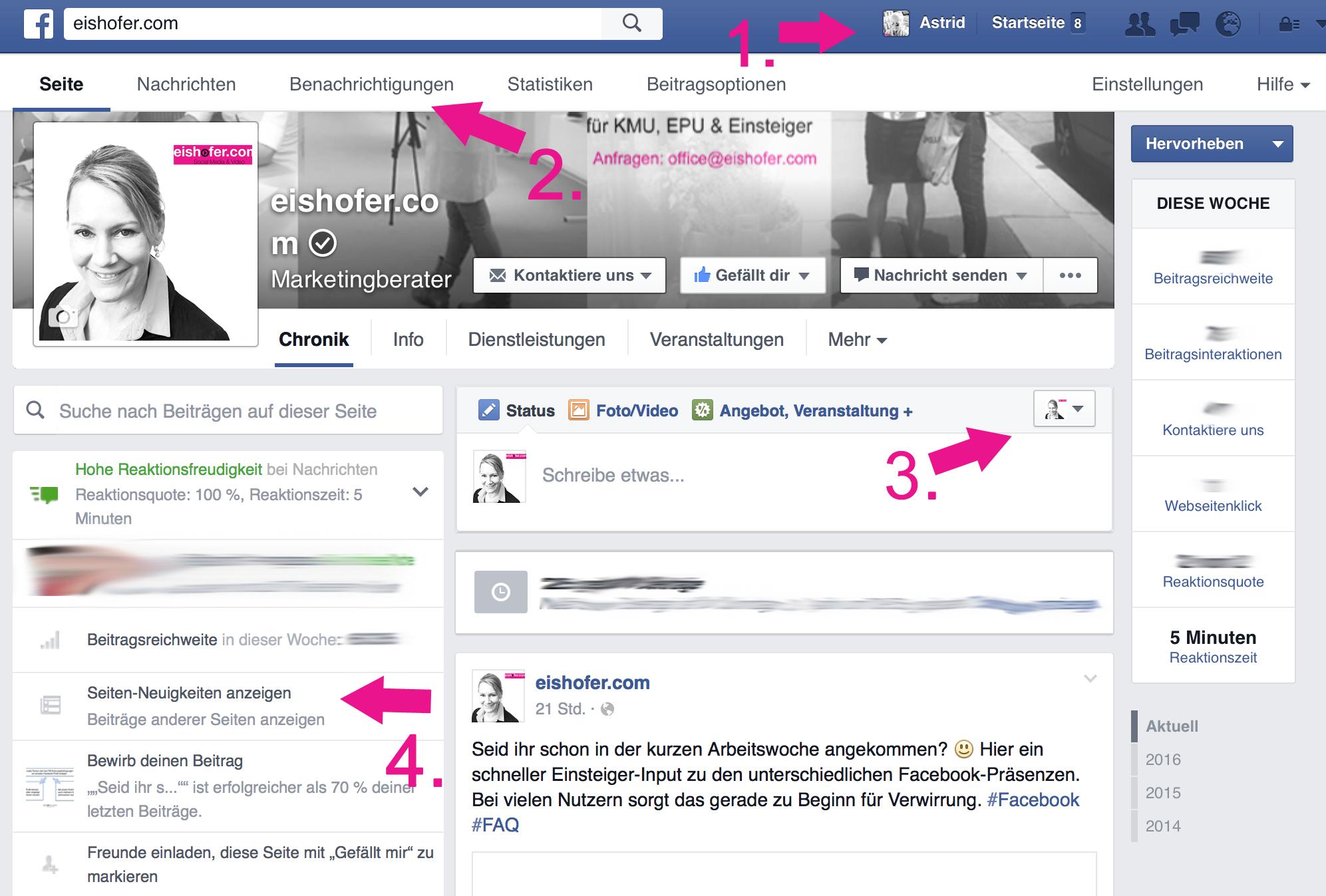 Facebook Neuigkeiten Weg