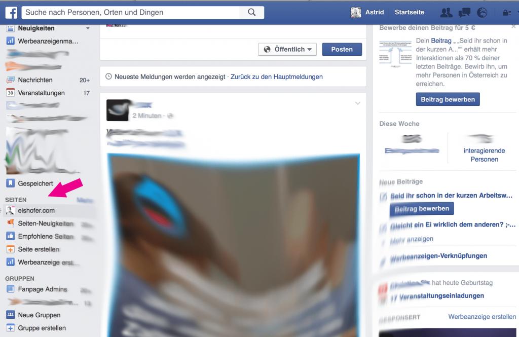 Facebook Seiten neu 3