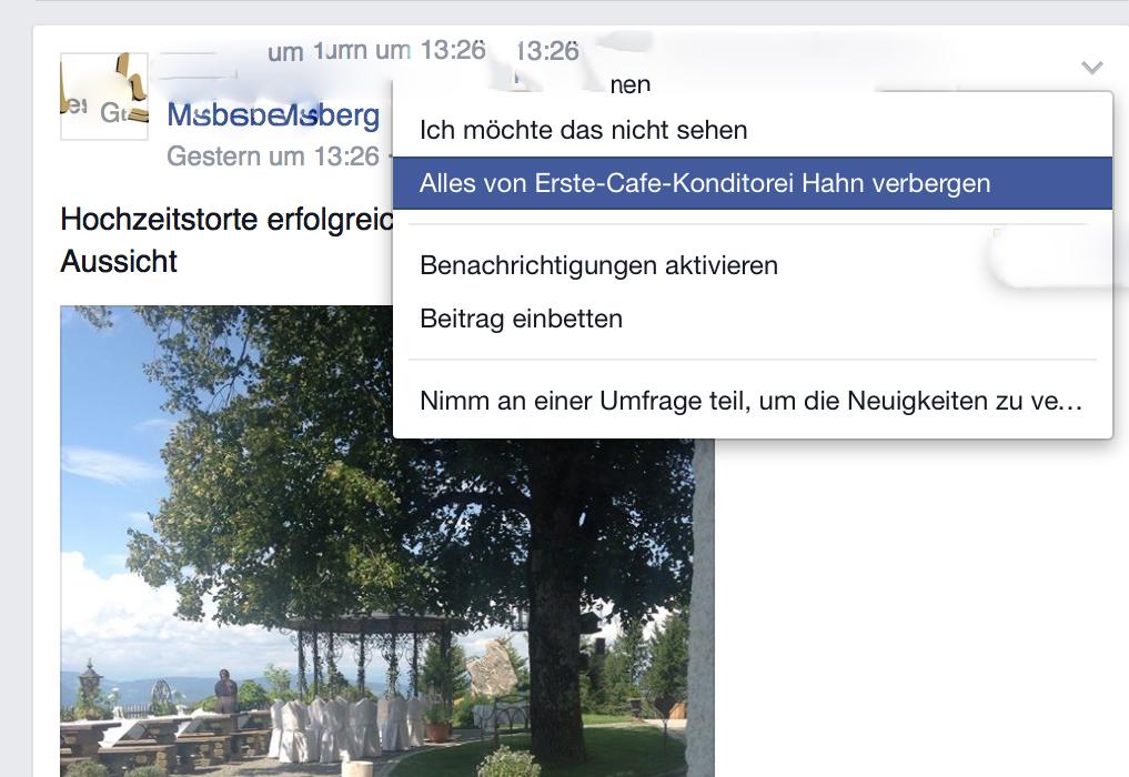 Facebook Tipp von Eishofer Neigkeiten verbergen 1