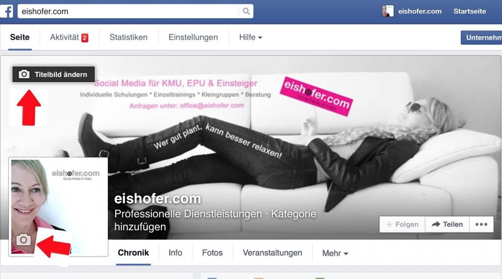 Facebook Titelbild ändern
