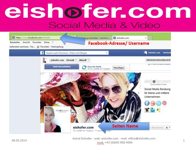 Facebook-Begriffe: Name - Username