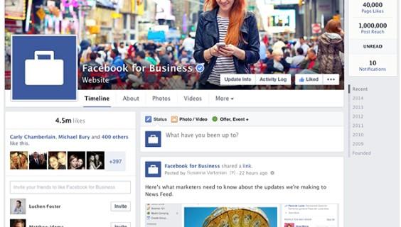 Facebook: neues Fanseiten Design ab 13. März 2014