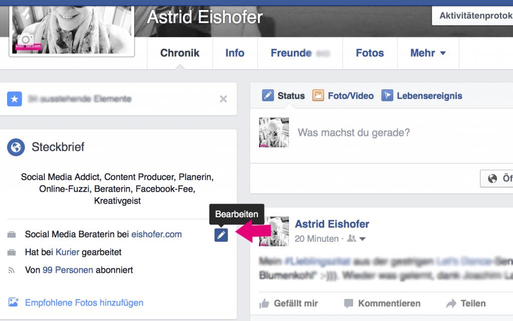 Firma eintragen auf Facebook