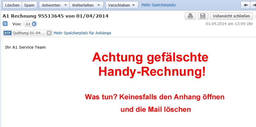 Achtung: Gefälschte Handy-Rechnungen sind im Umlauf! | eishofer.com