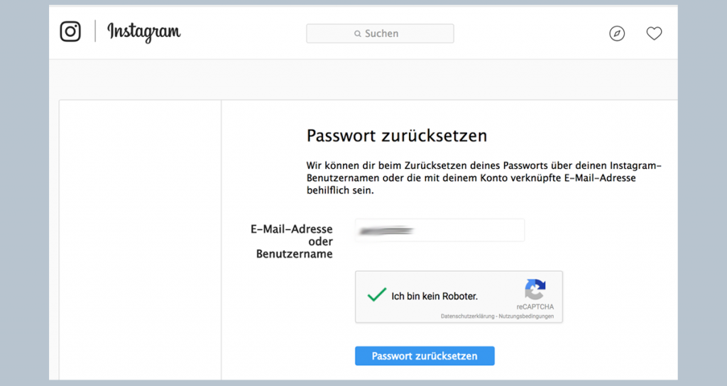 Alten instagram account löschen ohne passwort