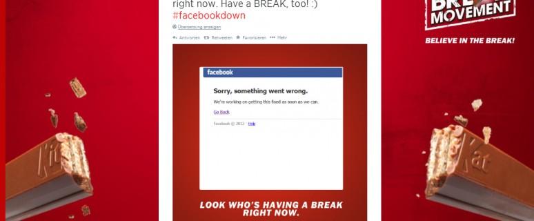Best Practice: Kitkat veräppelt Facebookdown