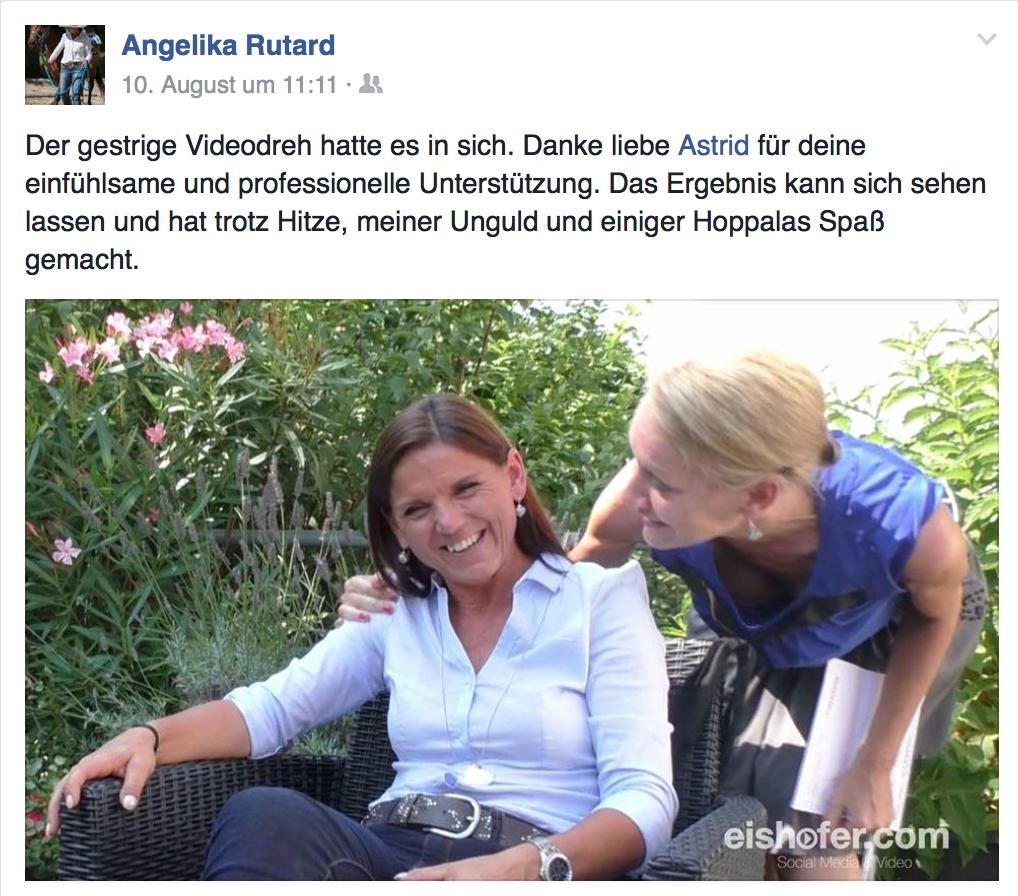 Kundenfeedback Angelika Rutard