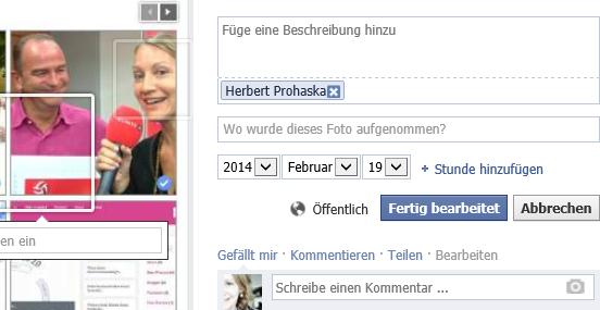 Markierung bei Facebook Fan-Seiten wieder entfernen