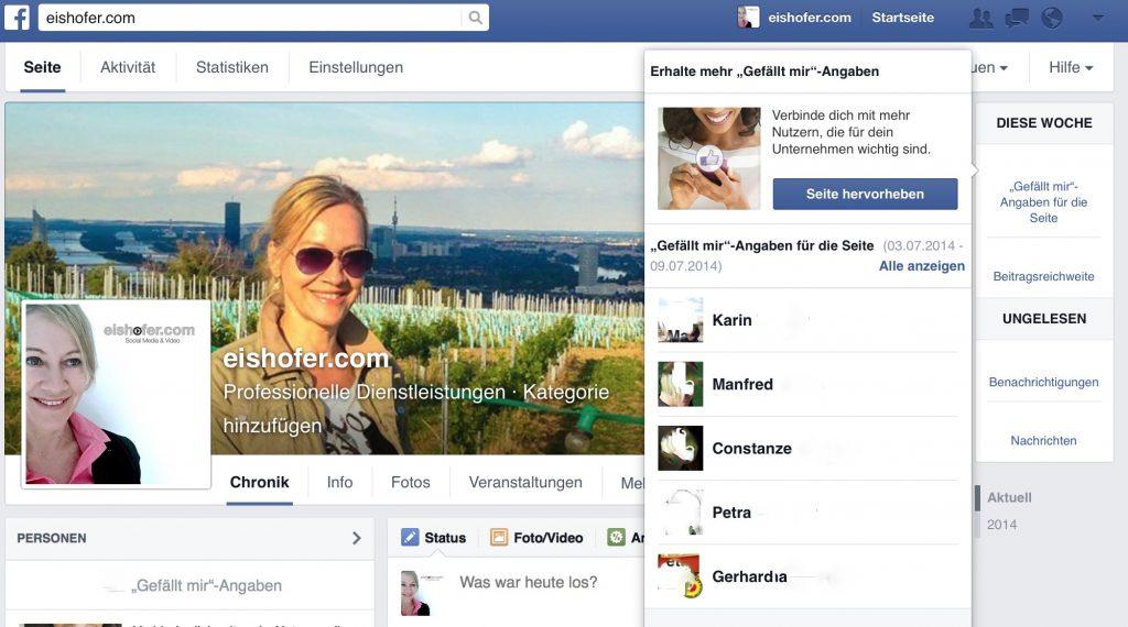 Social Media Training Facebook Gefällt mir