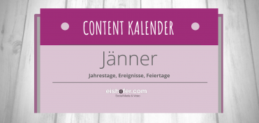 Socialmedia Content Kalender Januar