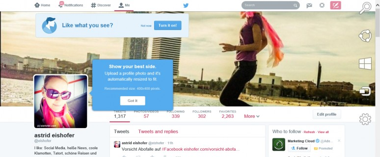 Neues Twitter-Design: Kontrollieren Sie, ob Ihr Titelbild noch passt und ändern Sie es bei Bedarf