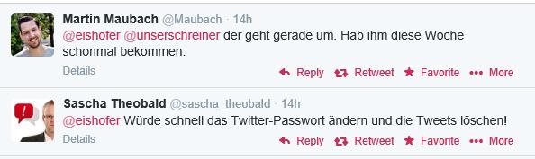 Twitter Account gehackt: Follower informieren rasch