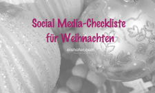 Facebook Weihnachten Checkliste Social Media
